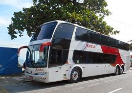 Fretamento de ônibus double deck - Abratur