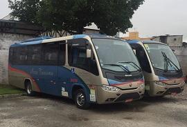 Locação de ônibus no aeroporto de Guarulhos - Abratur