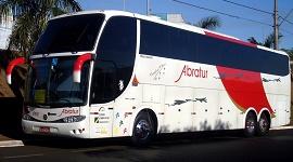 Ônibus no aeroporto de Guarulhos 1 - Abratur