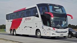 Ônibus no aeroporto de Guarulhos 2 - Abratur