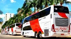 Ônibus no aeroporto de Guarulhos 3 - Abratur